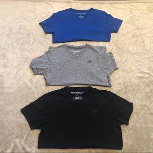 3 Men's Aeropostale V neck shirts. Size Small